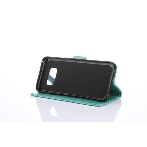 Galaxy S8/S8 plus(SC-02J/SCV36/SC-03J/SCV35) 手帳ケース 蝶柄 花柄 手帳型 レザーケース カード収納 携帯ケース 横開 保護ケース ギャラクシー スマホケース navy-pink 04