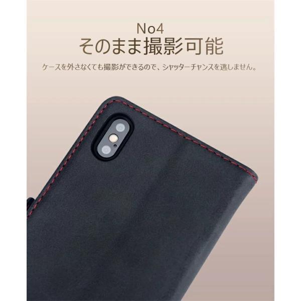 手帳型 ケース iPhone XS Max XR xs ケース88 Plus 7 7 Plus スマホケース  PUレザー 手帳型ケース カード収納 スタンド機能 高級感|navy-pink|06