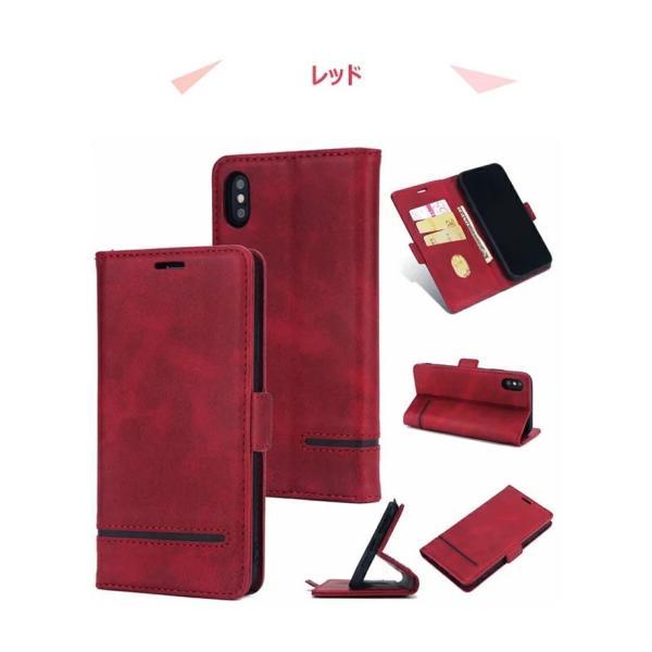手帳型 ケース iPhone XS Max XR xs ケース88 Plus 7 7 Plus スマホケース  PUレザー 手帳型ケース カード収納 スタンド機能 高級感|navy-pink|09