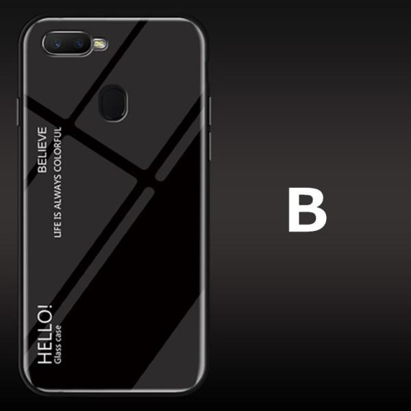 OPPO A7X OPPO R17 PRO OPPO Find X ケース カバー スマホケース 保護ケース 背面強化ガラス+TPU 高級感 背面保護 お洒落 oppo a7x携帯カバー navy-pink 11