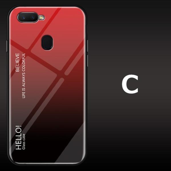 OPPO A7X OPPO R17 PRO OPPO Find X ケース カバー スマホケース 保護ケース 背面強化ガラス+TPU 高級感 背面保護 お洒落 oppo a7x携帯カバー navy-pink 12