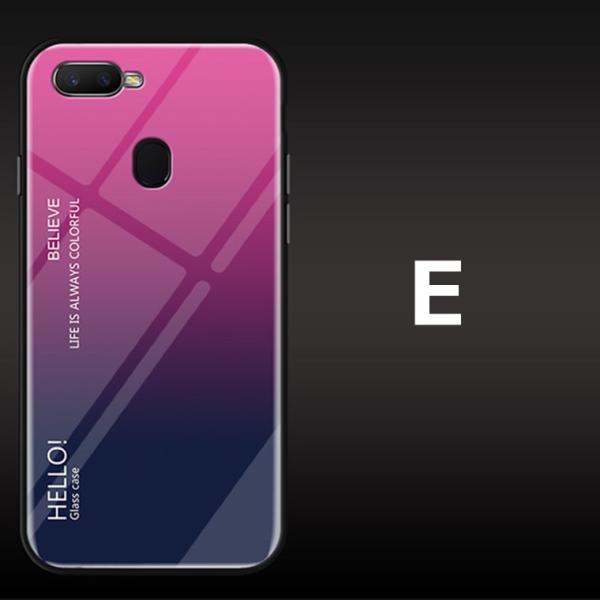 OPPO A7X OPPO R17 PRO OPPO Find X ケース カバー スマホケース 保護ケース 背面強化ガラス+TPU 高級感 背面保護 お洒落 oppo a7x携帯カバー navy-pink 14