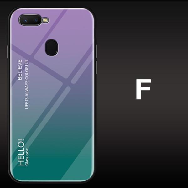 OPPO A7X OPPO R17 PRO OPPO Find X ケース カバー スマホケース 保護ケース 背面強化ガラス+TPU 高級感 背面保護 お洒落 oppo a7x携帯カバー navy-pink 15