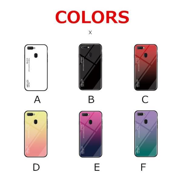 OPPO A7X OPPO R17 PRO OPPO Find X ケース カバー スマホケース 保護ケース 背面強化ガラス+TPU 高級感 背面保護 お洒落 oppo a7x携帯カバー navy-pink 09
