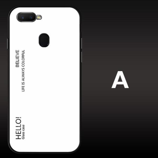 OPPO A7X OPPO R17 PRO OPPO Find X ケース カバー スマホケース 保護ケース 背面強化ガラス+TPU 高級感 背面保護 お洒落 oppo a7x携帯カバー navy-pink 10