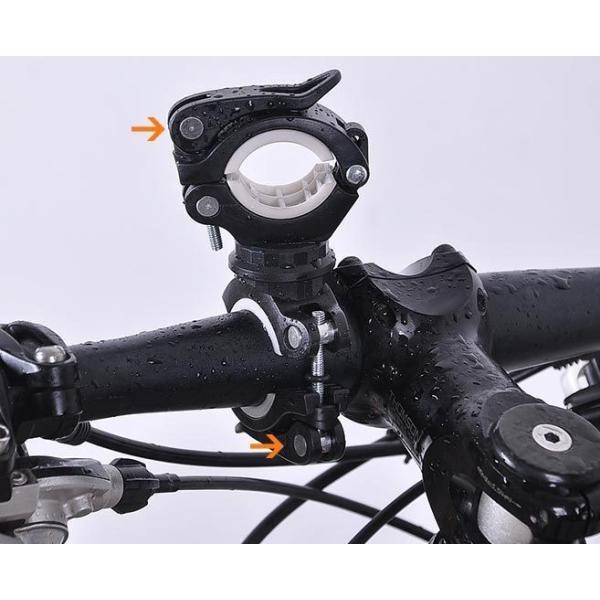 自転車用 ライトホルダー 連結 クイックレリーズで簡単装着 ポンプの固定にも(02) ndhci2014 02
