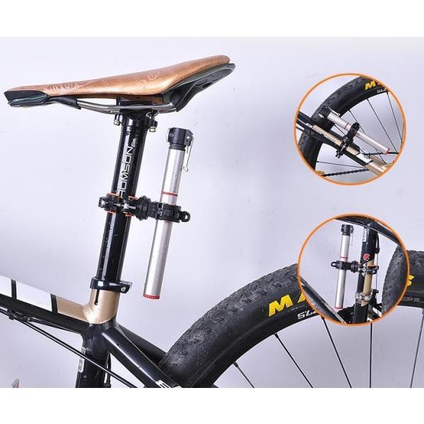 自転車用 ライトホルダー 連結 クイックレリーズで簡単装着 ポンプの固定にも(02) ndhci2014 03