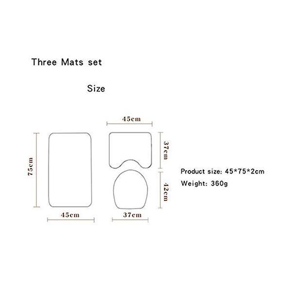 汎用性の高い快適なバスルームマット大理石柄フロアマットバスルームトイレシートスリーピースカーペットは色あせない洗濯機で洗えます あなたはそれに値する。|nearside