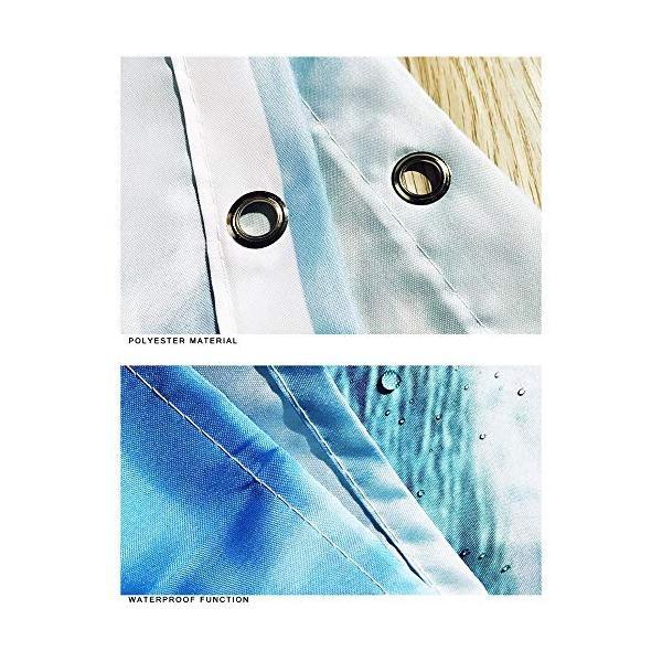 乗馬人シルエットパターンシャワーカーテンフロアマット浴室トイレシート4ピースカーペット吸水率は色あせない汎用性の高い快適な柔らかいバスルームマットは洗|nearside|03