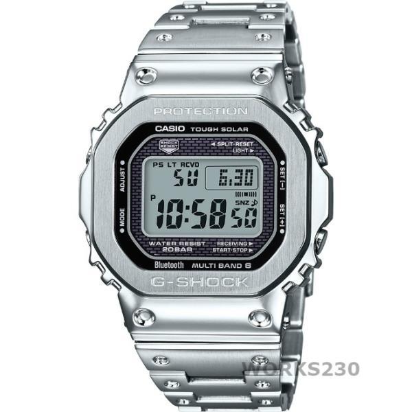 CASIOG-SHOCKGMW-B5000D-1カシオGショックフルメタルスマーフォンリンクソーラー充電Bluetooth電波時