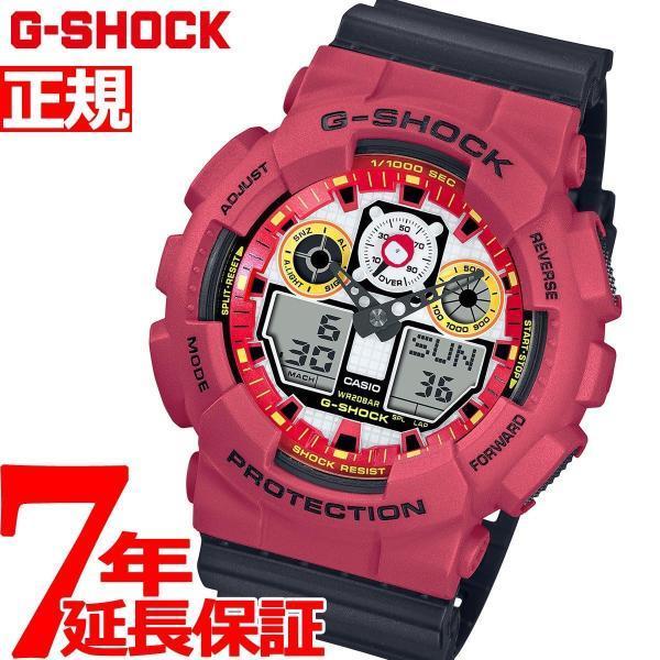 店内最大26倍 GショックG-SHOCK腕時計メンズ達磨GA-100DA-4AJRジーショック