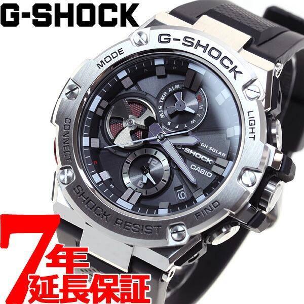 店内最大26倍 GショックGスチールG-SHOCKG-STEELソーラー腕時計メンズGST-B100-1AJF