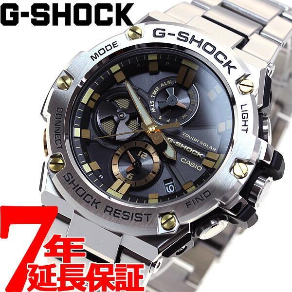 店内最大26倍 GショックGスチールG-SHOCKG-STEELソーラー腕時計メンズGST-B100D-1A9JF