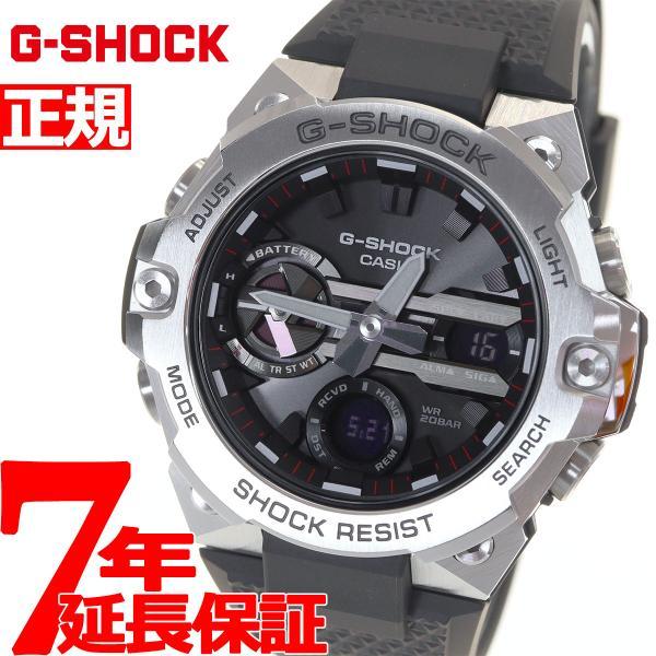 店内最大26倍 GショックGスチールG-SHOCKG-STEELソーラー腕時計メンズGST-B400-1AJFジーショック