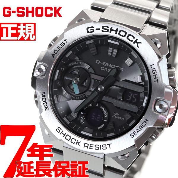 店内最大26倍 GショックGスチールG-SHOCKG-STEELソーラー腕時計メンズGST-B400D-1AJFジーショック