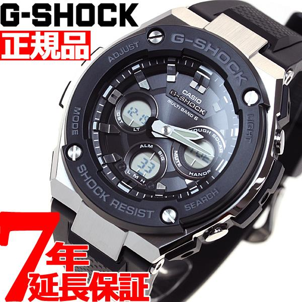 店内最大26倍 GショックGスチールG-SHOCKG-STEEL電波ソーラー腕時計メンズGST-W300-1AJF