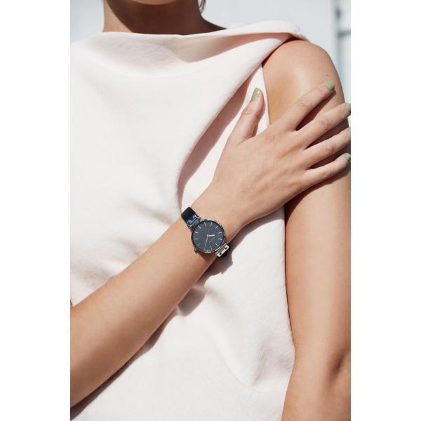 ポイント最大21倍! モックバーグ 時計 レディース MOCKBERG Astrid Black 腕時計 34mm ブラック MO111