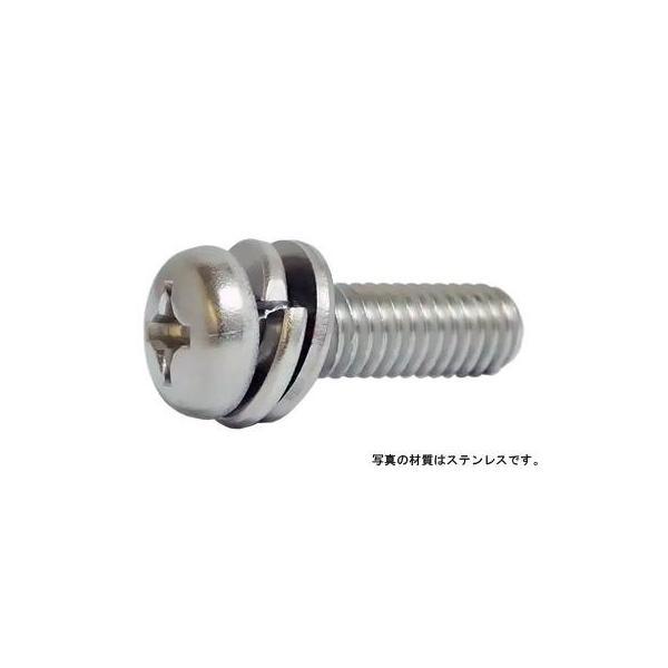(+)ナベI=4 鉄 三価ホワイト  6 X 40 【パック商品20本入】