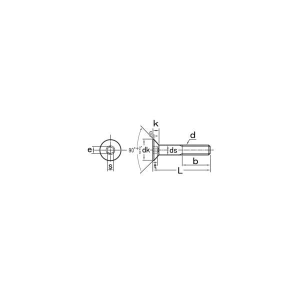 ステンレス 皿キャップ M6x30 BK 【10個入】|nejinejikun|02
