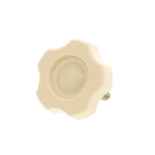 抗菌ノブボルト (アイボリー) [小:G-1] [ねじ部:鉄/シルバーメッキ] M6 (太さ=6mm) × 長さ=20mm 【 バラ売り : 3本入り 】