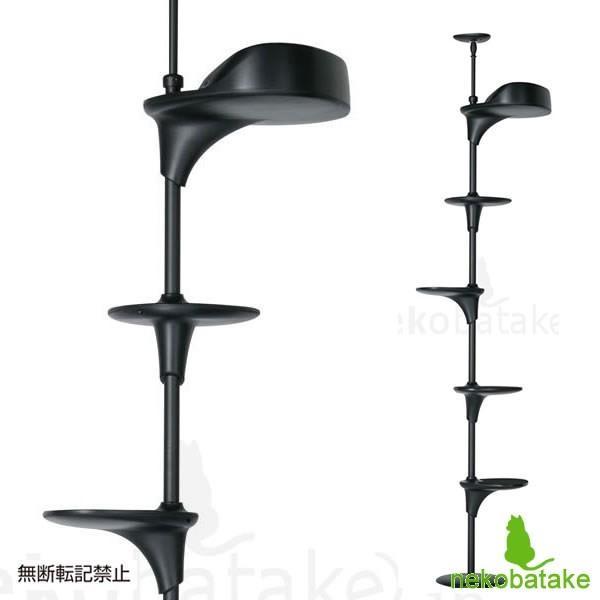OPPO CatForest [キャットフォレスト] ブラック / 猫用タワー テラモト(取寄せ)|nekobatake
