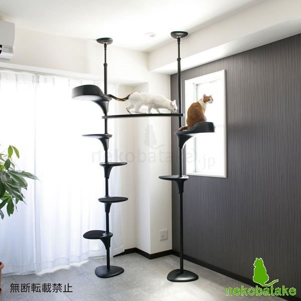 OPPO CatForest [キャットフォレスト] ブラック / 猫用タワー テラモト(取寄せ)|nekobatake|05