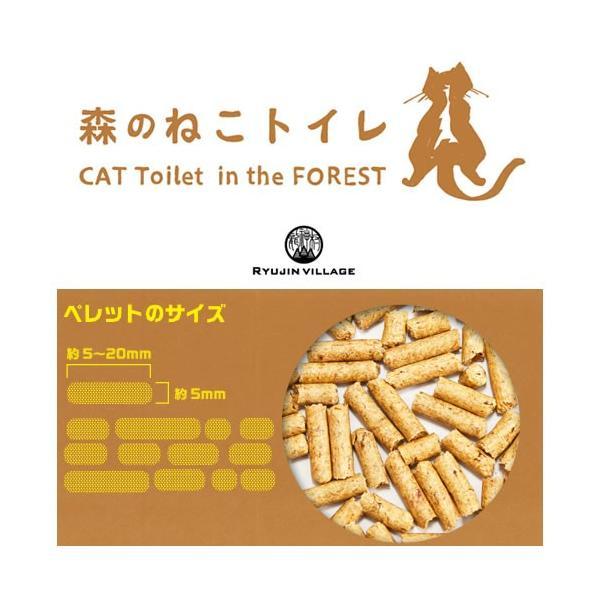 森のねこトイレ 猫砂 天然木 ひのき 間伐材 龍神村 システムトイレ用|nekobatake|02