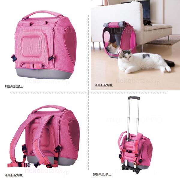 OPPO Pet Carrier muna [ミュナ] ピンク 猫用キャリー リュック ハウス兼用|nekobatake|03