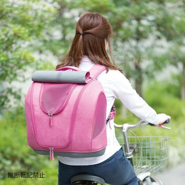 OPPO Pet Carrier muna [ミュナ] ピンク 猫用キャリー リュック ハウス兼用|nekobatake|05