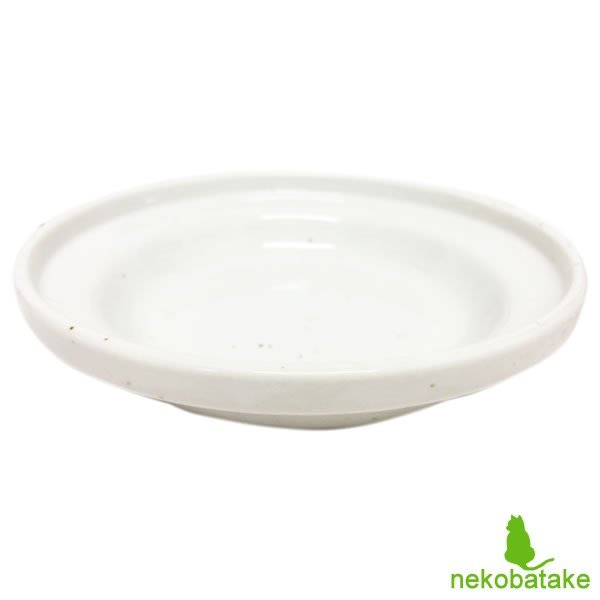 ヘルスウォーターシリーズ フードボウル ホワイト M 猫用品 猫用食器 フードボウル オーカッツ|nekobatake