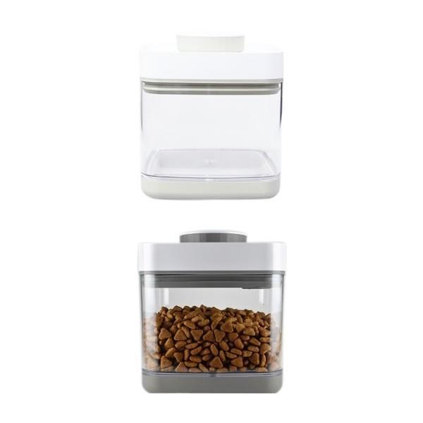 真空保存容器 ANKOMN SAVIOR(セビア)ベージュ 1.5L 猫用品 フードストッカー アンコムン 最新バージョン|nekobatake|02
