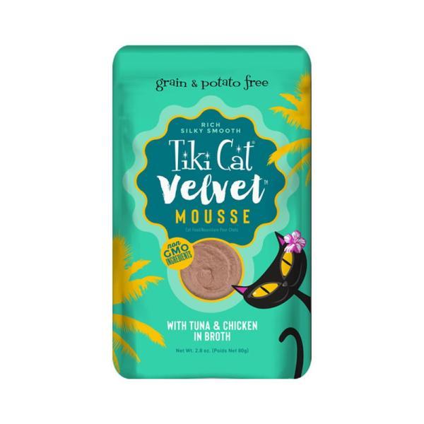 ティキキャット ベルベット マグロ&チキン 80g / TikiCat 猫用パウチ 総合栄養食|nekobatake