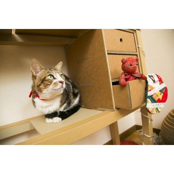 3段収納BOX ニャンダフルシェルフ オプション品 / 猫用 ECO おしゃれデザイン 日本製|nekodan|04