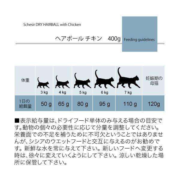 最短賞味2020.1.29・シシア 猫 ドライ ヘアボール(チキン)1.6kg(400g×4) scc716p毛玉ケア キャットフード Schesir 正規品 nekokin 06