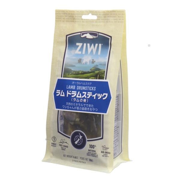 NEW 最短賞味2020.10・ジウィピーク 犬 ラム ドラムスティック 186g オーラルヘルスケア 犬用おやつ Ziwipeak 正規品 zi95716|nekokin