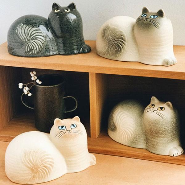 リサラーソン  Lisa Larson 猫の置物 Maj ( マイ ) 猫グッズ 猫雑貨 猫 ねこ 置物 クリスマスプレゼント
