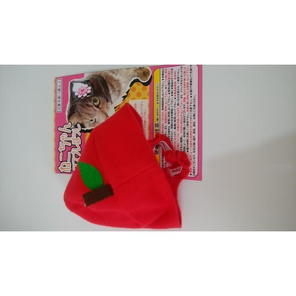 猫ちゃん専用かぶりもの フルーツ・りんご|nekote-shop|03