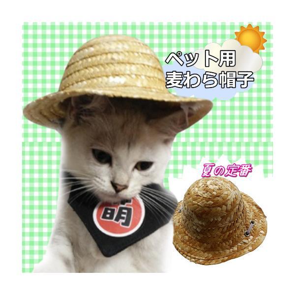 猫雑貨 ペット用品 猫専用! 麦わら帽子|nekote-shop