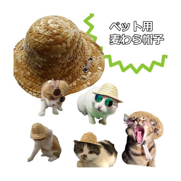猫雑貨 ペット用品 猫専用! 麦わら帽子|nekote-shop|02