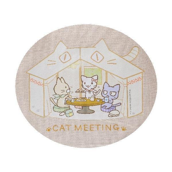 猫雑貨 猫デザイン オリジナル CAT MEETING トートバッグ|nekote-shop|03