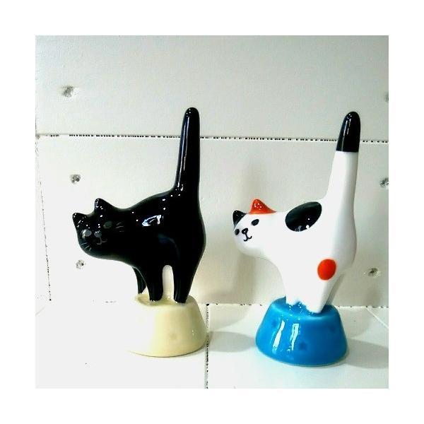猫雑貨 DECOLE HAPPY catday 猫のリングホルダー|nekote-shop|02