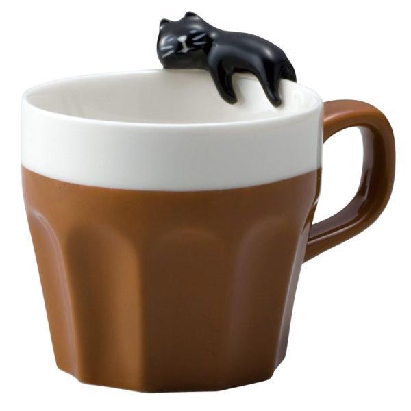 猫雑貨 キッチン 猫 マグカップ DECOLE うとうとマグカップ黒猫 nekote-shop