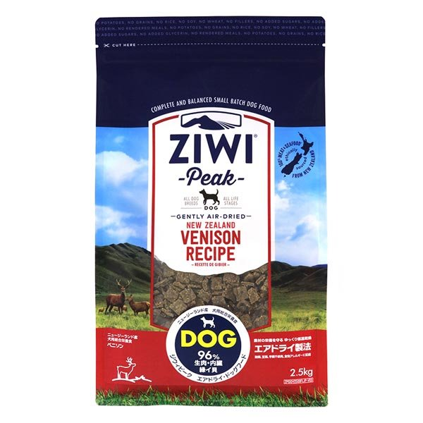 ZIWI ジウィピーク エアドライ ドッグフード ベニソン 1kg/即納 賞味期限2019年10月|nekotsume