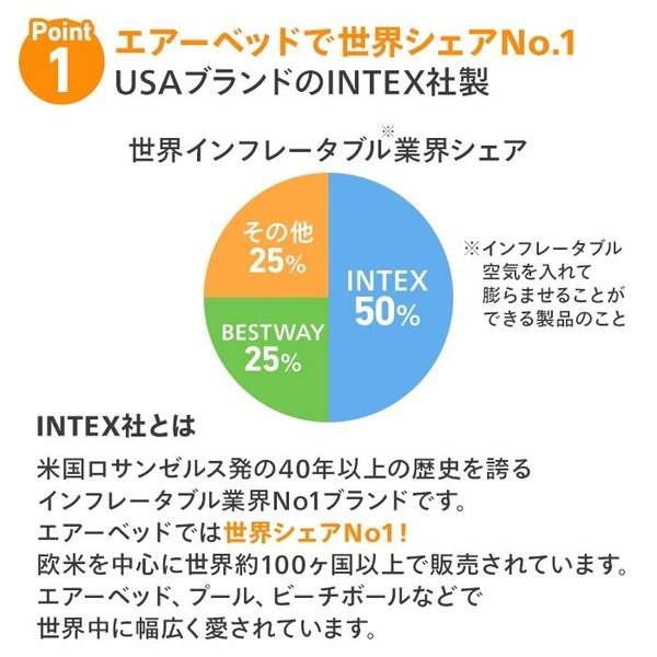 エアーベッド エアベッド 電動 内蔵 シングル INTEX コンフォート 33cm エアーマット エアーマットレス 来客用 67765|nemunabi|06