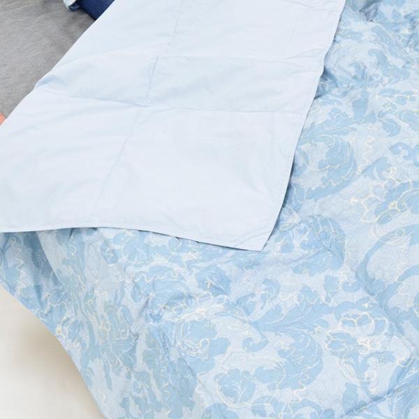 ダウンケット 2枚組 西川 肌掛け布団 夏 シングル 2枚セット 洗える 羽毛 70% 昭和西川|nemurinokamisama|13
