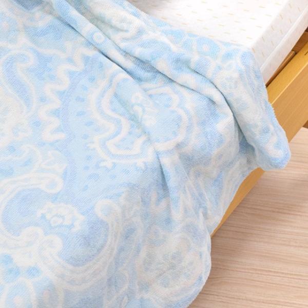 接触 冷感 クール 肌掛け布団 リバーシブル 綿100% パイル シングル 西川|nemurinokamisama|14