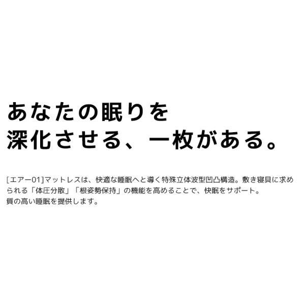 西川エアー 敷き布団 マットレス 01 セミダブル ハード AiR HARD 120N ネイビー 東京西川 ポイント10倍|nemurinokamisama|03