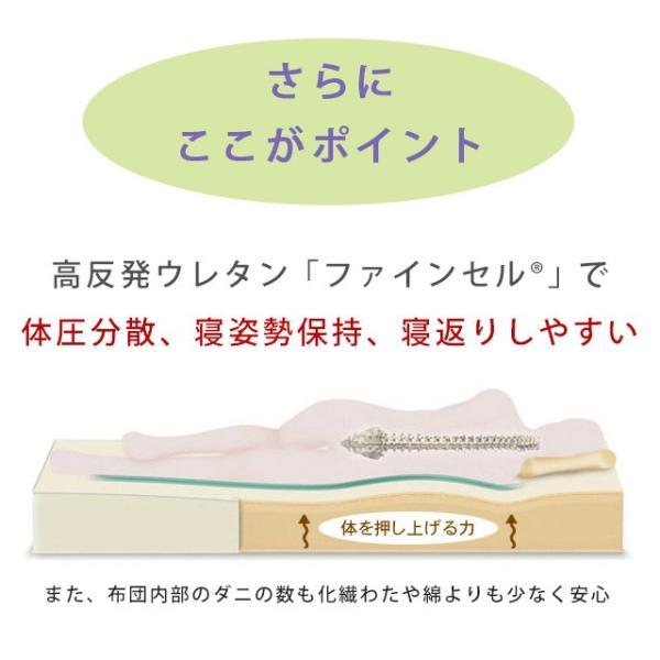 東京西川 マットレス 高反発 三つ折り シングル 敷布団 フェスタ2 東京西川|nemurinokamisama|06