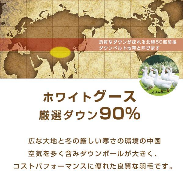 羽毛布団 シングル 2枚合わせ 西川 2枚重ね グース ハンガリー ダウン 90% 日本製 国産|nemurinokamisama|05