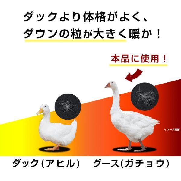 羽毛布団 シングル 2枚合わせ 西川 2枚重ね グース ハンガリー ダウン 90% 日本製 国産|nemurinokamisama|06